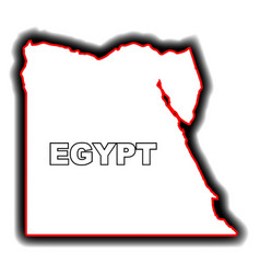 Outline map of egypt vector