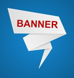 paper banners for your text vector image