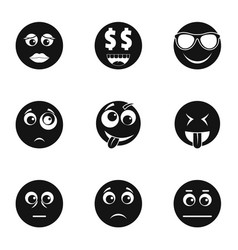 Physiognomy icons set simple style vector