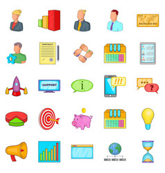pouch icons set cartoon style vector image