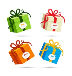 Present Box Gift Box Set vector