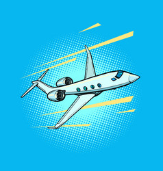 Private jet passenger plane speed and business vector