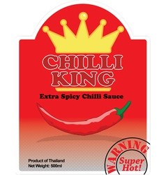 Product label chilli sauce vector