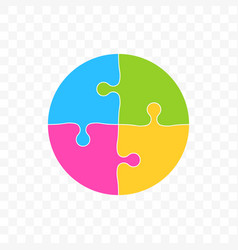 puzzle circle colors art icon vector image