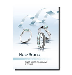 Rings store creative promotional poster vector