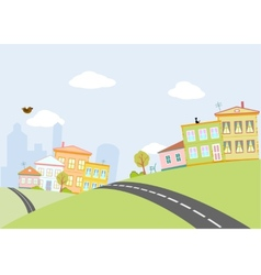 road in city vector image