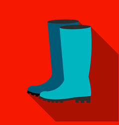 Rubber boots icon of for web vector