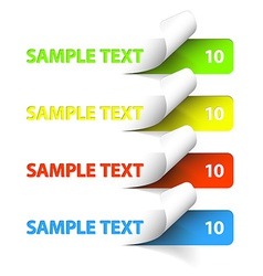 Sample stickers vector