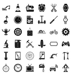 screwdriver icons set simple style vector image