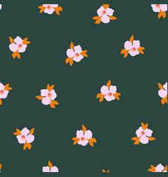 seamless pattern ditsy pansy flowers vector image