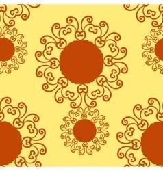 Seamless Print Geometric Stylized Wallpaper Tile vector image