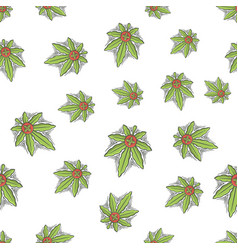 seamless texture medical marijuana six vector image
