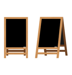 set menu black boards vector image