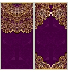 Set of ornate templates for banners or greeting vector