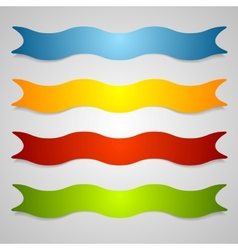Set of wavy label ribbons vector image