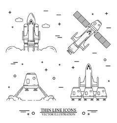 Space shuttle takes off on the white background vector image