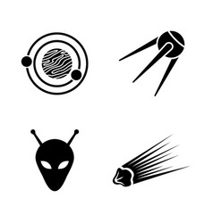 space simple related icons vector image