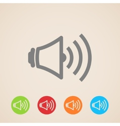 Speaker volume icons vector