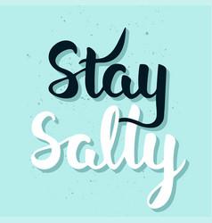stay salty handwritten lettering modern ink brush vector image