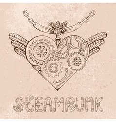 Steampunk heart vector