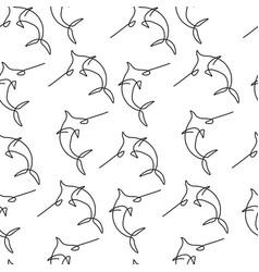 swordfish pattern seamless vector image