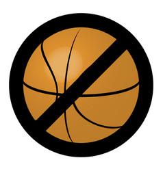 symbol ban ball for basketball game vector image