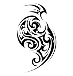 Tribal style tattoo vector