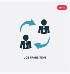 Two color job transition icon from user interface vector
