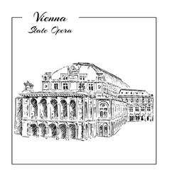 vienna state opera house austria wiener vector image