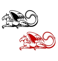 Vintage heraldic griffin vector