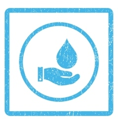 Water Service Icon Rubber Stamp vector image