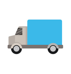 White background with color silhouette of truck vector