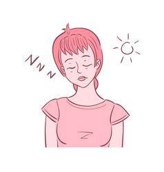 Woman shown sleeping vector