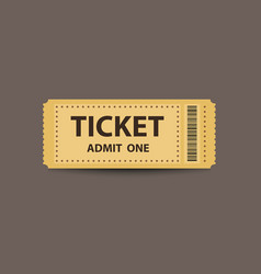 Yellow stub ticket vector