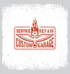 custom garage vector image