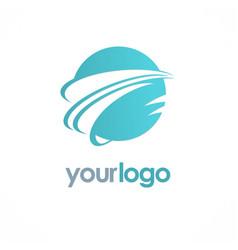 globe planet technology logo vector image