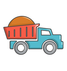 heavy construction tipper icon cartoon style vector image