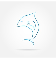 image of an shark vector image vector image