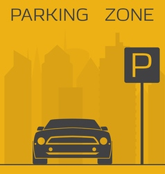 Parking zone vector image vector image