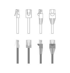 set of ethernet connectors vector image