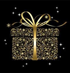 Stylized gift box vector
