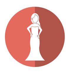 women day girl model fashion dress shadow vector image