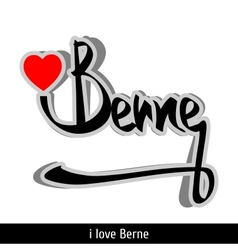 Berne greetings hand lettering Calligraphy vector image vector image