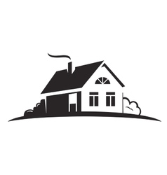 black house vector image