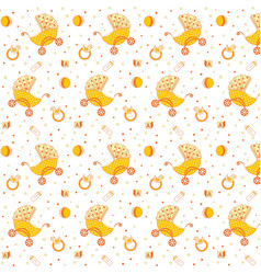 childrens pattern yellow vector image vector image