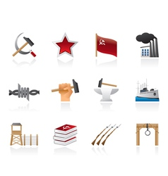 communism and revolution icons vector image vector image