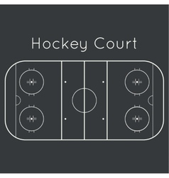 ice hockey rink vector image vector image