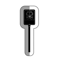 road traffic bus stop signal icon vector image