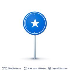 somalia flag isolated on white vector image vector image