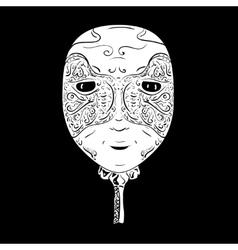 Venetian mask vector image vector image